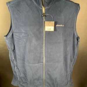 Eddie Bauer Quest Fleece Vest Mens XL New NWT Dark